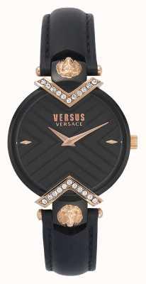 Versus Versace | schwarzes Lederarmband für Damen | VSPLH1419