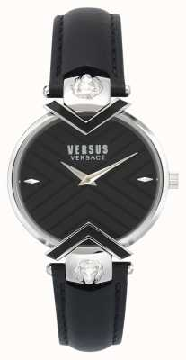 Versus Versace | damen schwarzes lederarmband | VSPLH0119