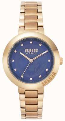 Versus Versace Damen Roségold Armband | blaues Zifferblatt | VSPLJ0819