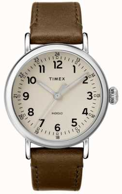 Timex | Olivgrünes Herrenarmband für Herren graues Zifferblatt | TW2T20100D7PF