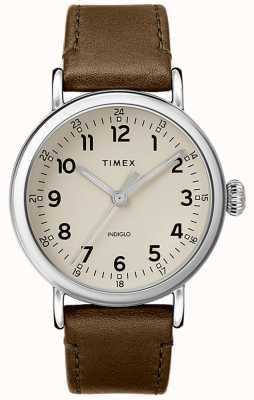 Timex   Olivgrünes Herrenarmband für Herren graues Zifferblatt   TW2T20100D7PF