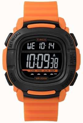 Timex | verstärken Sie Schock orange und schwarz digital TW5M26500SU