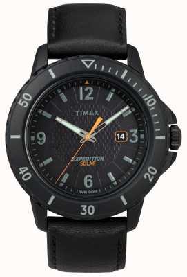Timex | Gallatin Solar schwarzes Leder | schwarzes Zifferblatt | TW4B14700D7PF