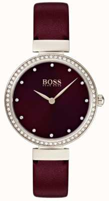 Hugo Boss | Damen Burgunder Lederband | 1502481