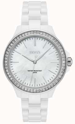 BOSS | Damen weißes Armband | weißes Zifferblatt | 1502454