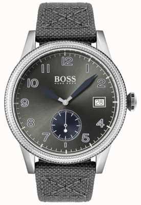 Boss | grauer Canvasgurt für Herren | Legacy-Uhr | 1513683