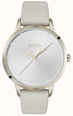 Boss | weißes Lederarmband für Damen | weißes Zifferblatt | 1502461