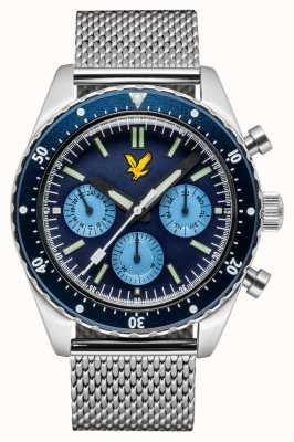 Lyle & Scott Herren Highland Edelstahl Mesh Armband blaues Zifferblatt LS-6011-22
