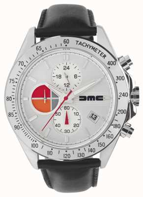 DeLorean Motor Company Watches 1981 Silber Leder | silbernes Zifferblatt | schwarzes Leder | DMC-7