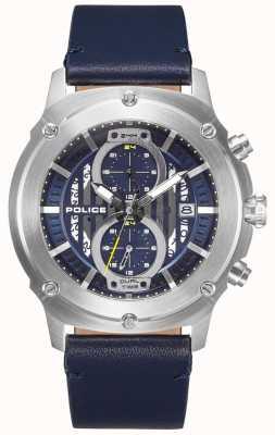 Police | Herren lulworth | blaues Lederband | blaues Multi-Dial | 15917JS/03