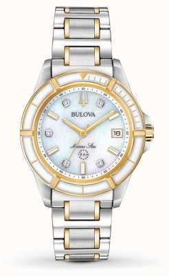 Bulova Damen Marine Star Two Tone Armband 98P186