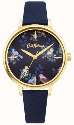 Cath Kidston | blaues Lederband | blaues florales Zifferblatt | CKL069UG