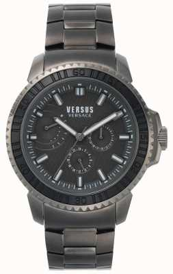 Versus Versace | Herren Aberdeen | schwarzes Zifferblatt | graues Edelstahlarmband VSPLO0819