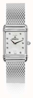 Michel Herbelin Esprit Art Deco Damen Perlmutt Zifferblatt aus Stahlgitter 17478/59BM