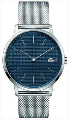 Lacoste | Herren Mond | stahlgeflecht armband | blaues Zifferblatt | 2011005