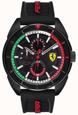 Scuderia Ferrari | Herren Forza | schwarzes Kautschukband | schwarzes Chronographenzifferblatt | 0830577