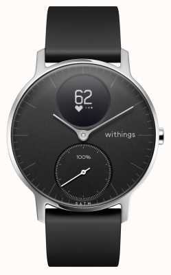 Withings Stahl hr 36mm schwarzes Silikonarmband HWA03B-36BLACK-ALL-INTER