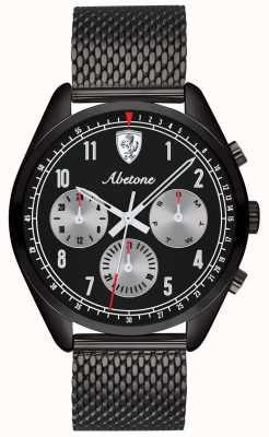 Scuderia Ferrari | herren abetone | schwarzes Mesh-Armband | schwarzes Zifferblatt | 0830573