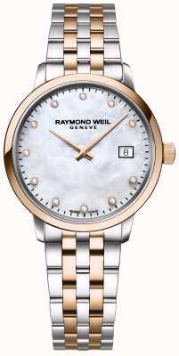 Raymond Weil | damen toccata diamant | zweifarbiger Edelstahl | 5985-SP5-97081