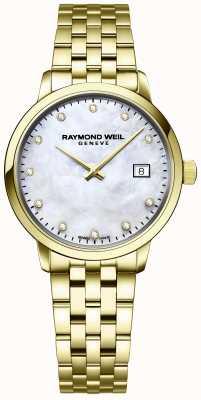 Raymond Weil | Damen toccata Diamant | goldenes Edelstahlarmband | 5985-P-97081