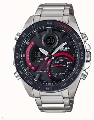 Casio Edifice Toro Rosso Solar Bluetooth-Armband aus Edelstahl ECB-900DB-1AER