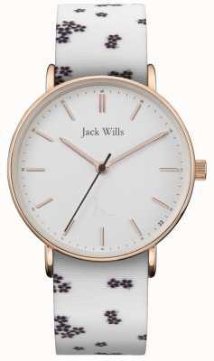 Jack Wills | damen sandhill weißes silikon | weißes Zifferblatt | JW018FLWH