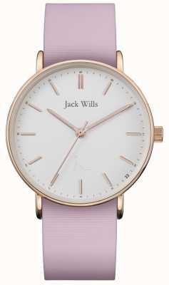 Jack Wills | Damen Sandhill pink Silikonband | weißes Zifferblatt | JW018WHPK