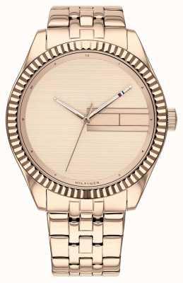 Tommy Hilfiger   Damen Armband aus roségoldfarbenem Edelstahl   Roségold Durchm 1782082