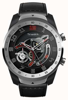 TicWatch Pro   Flüssigmetall Silber Smartwatch WF12096-SILV