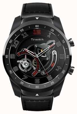 TicWatch Pro   Schattenschwarze Smartwatch WF12096-BLK