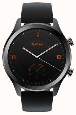 TicWatch C2 | Onyx Smartwatch | schwarzes Lederband 130688-WG12036-ONYX