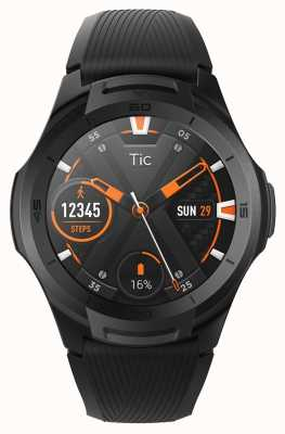 TicWatch S2 | Mitternacht Smartwatch | schwarzes Silikonband 131585-WG12016-BLK