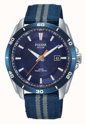 Pulsar Blaues Nylonarmband für Herren mit blauem Zifferblatt PX3177X1