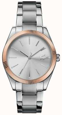 Lacoste Damen Pariser Edelstahl Armband Silber Zifferblatt 2001082