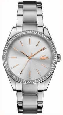 Lacoste Damen Pariser Edelstahl Armband Silber Zifferblatt 2001083