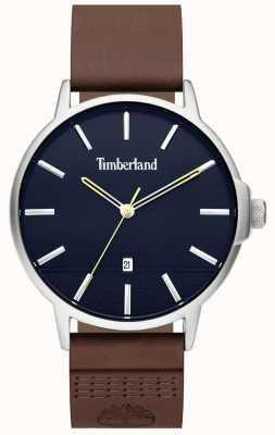 Timberland | Herren Rollinsford | braunes Lederarmband | blaues Zifferblatt | 15637JYS/03