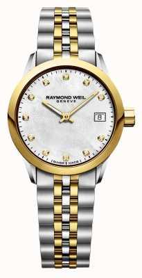 Raymond Weil Freelancer Diamant Damen zweifarbiger Edelstahl 5626-STP-97081