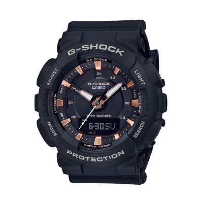 Casio G-Shock Step Tracker schwarzer Resin Gurt GMA-S130PA-1AER