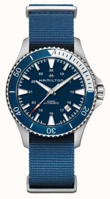 Hamilton | Khaki Navy Scuba Automatik | blaues Gewebeband | blaues Zifferblatt H82345941