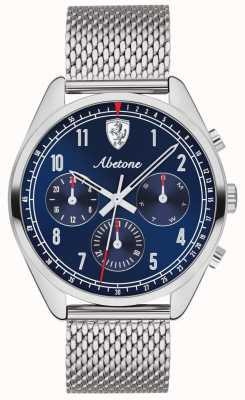 Scuderia Ferrari | herren abetone | blaues Zifferblatt | silbernes Mesh-Armband | 0830572