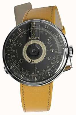 Klokers Klok 08 schwarzes Zifferblatt Newport gelbes Einzelband KLOK-08-D3+KLINK-01-MC7.1