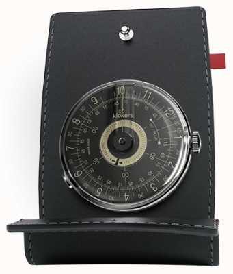 Klokers Klok 08 schwarzes Zifferblatt Uhrenkopf Schreibtisch und Tasche KLOK-08-D3+KPART-01-C2