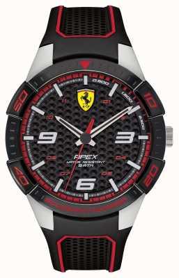 Scuderia Ferrari | Spitze der Männer | schwarzes Kautschukband | schwarzes Zifferblatt | 0830630