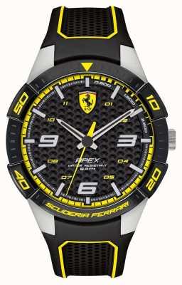 Scuderia Ferrari | Spitze der Männer | schwarzes Kautschukband | schwarzes / gelbes Zifferblatt | 0830631
