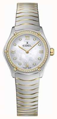 EBEL Womens Sport Classic 53 Diamanten 18 Karat Gelbgold 1216412A