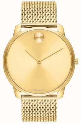Movado Gold vergoldetes Mesh-Goldzifferblatt für Herren 3600588