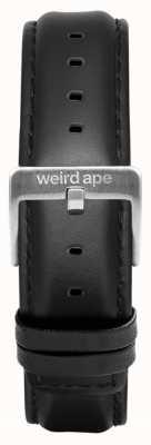 Weird Ape Schwarzes Leder 16mm Band silberne Schnalle ST01-000045
