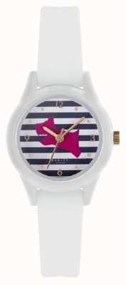 Radley | Womens 'watch it' | weißes Silikonband | gedrucktes Zifferblatt | RY2814