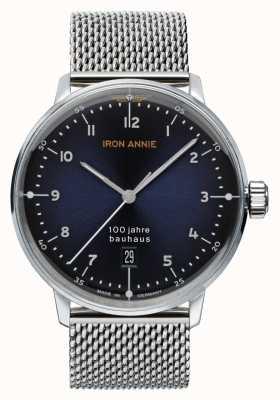 Iron Annie Bauhaus | blaues Zifferblatt | Edelstahlgewebe 5046M-3