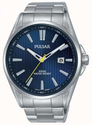 Pulsar | Herrenarmband aus Edelstahl | blaues Zifferblatt | PS9603X1